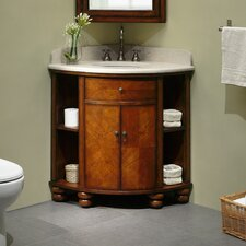 "<strong>Xylem</strong> Carlton 20"" Corner Bathroom Vanity Set"