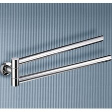 Demetra Jointed Double Towel Bar in Chrome