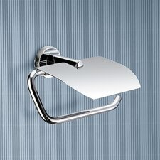 Demetra Toilet Paper Holder with Cover in Chrome
