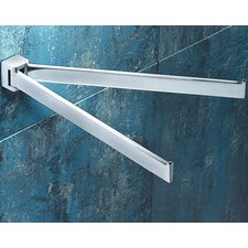 Glamour Jointed Double Towel Bar in Chrome