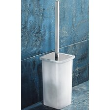 Glamour Toilet Brush Holder in White