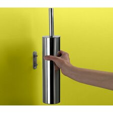 Edera Wall Mounted Toilet Brush Holder in Chrome