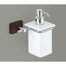 Minnesota Woods Porcelain Soap Dispenser with Espresso Wood Mount
