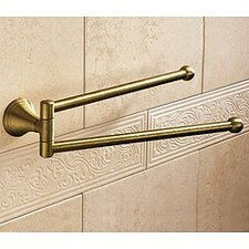 "Romance 14"" Wall Mounted Double Towel Bar"