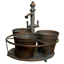 On Tap 3 Pot Round Planter Holder *