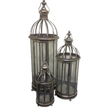 3 Piece Cathedral Lantern Set