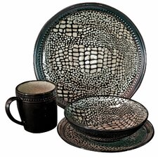 16 Piece Komodo Dinner Set in Black *