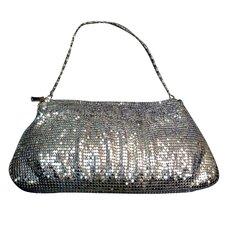 Sequinned Zipped Handbag