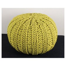 Big Knit Cable Pouffe