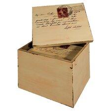 Postcard Lidded Box (Set of 2)