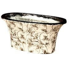Leaf Print Round Bowl Planter
