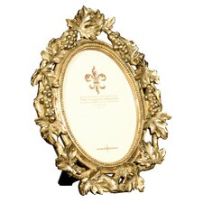 """Gold Vine"" Oval Photo Frame"