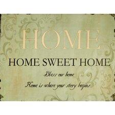 Home Large Plaque