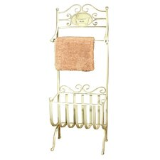 Old Tin Bath Towel and Magazine Rack