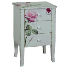 Rose 3 Drawer Bedside Table