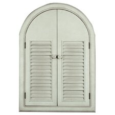 Gifts and Accessories Behind the Shutters Wall Mirror