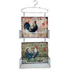 Gifts and Accessories Handsome Rooster Wall Pocket