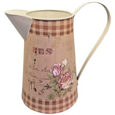 Gifts and Accessories Gingham Floral Printed Jug