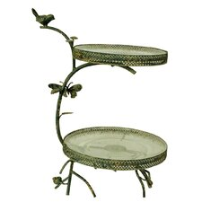 Gifts and Accessories Twig 2 Tier Cake Stand