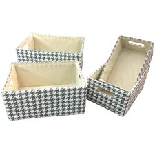 Gifts and Accessories Dog Tooth Basket (Set of 3)