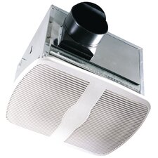 100 CFM Energy Star Qualified Dual Speed Exhaust Bathroom Fan