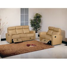 <strong>Hokku Designs</strong> Slope Dual Reclining Leather Living Room Collection