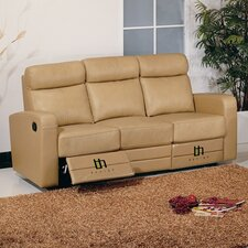 <strong>Hokku Designs</strong> Slope Leather Reclining Sofa