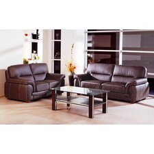 <strong>Hokku Designs</strong> Sienna Leather Living Room Collection
