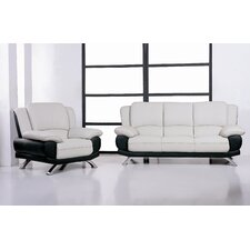 <strong>Hokku Designs</strong> Caelyn Leather Living Room Collection