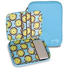 Nola Laptop Wrap in Buttercups Turquoise