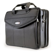 <strong>Mobile Edge</strong> Premium V-Load Leather Laptop Briefcase