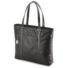 Women's Leather Ultra Laptop Tote in Black