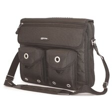 "The Edge 15.4"" Messenger Bag in Black"