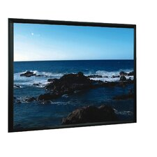 "Matt White 100"" Fixed Frame Projection Screen"