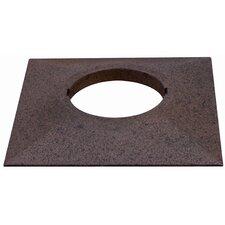 Profi Line UpDownlight Square Mounting Ring in Rust
