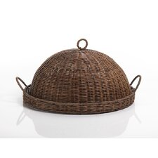 Woven Tray with Cloche