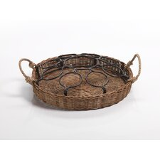 Rattan Tray and Caddy