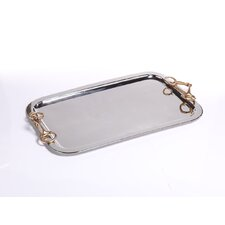 Rectangular Serving Tray with Horse Bit Handles