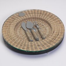 Barclay Butera Montecito Round Cheese Tray with Utensils