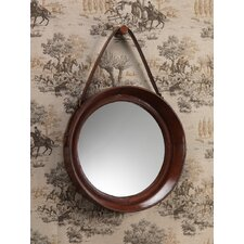 """Barclay Butera Equestrian 20"""" H x 23"""" W Leather Wall Mirror with Belt"""