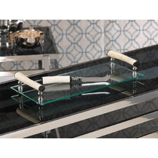 Barclay Butera Casablanca Rectangular Cheese Tray with Bone Handles and Knife