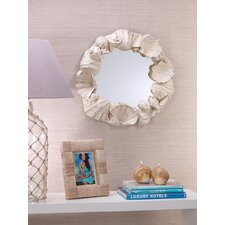 "Costa Brava 24"" H x 27.25"" W Seashell Mirror"
