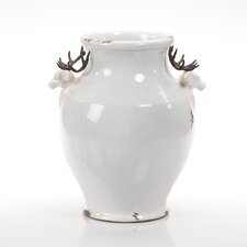 Terracotta Stag Head Footed Vase