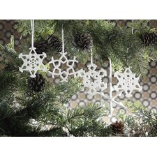 Snowflake Porcelain Ornament (Set of 9)