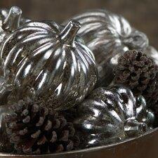 Assorted Decorative Glass Pumpkins (Set of 2)