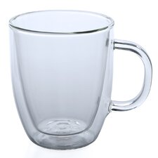 Glass Bistro 15 oz. Mug (Set of 2)