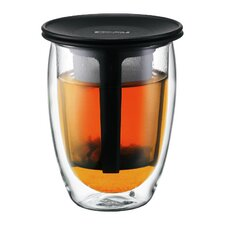 Tea for One Double Wall Tumbler with Strainer