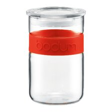 Presso Glass Storage Jar with Silicone Band