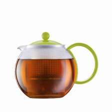 Assam 34 Ounce Tea Press Pot with Plastic Filter