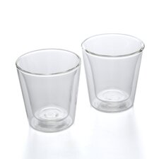 Canteen 3 oz Double Wall Insulated Glass (Set of 2)